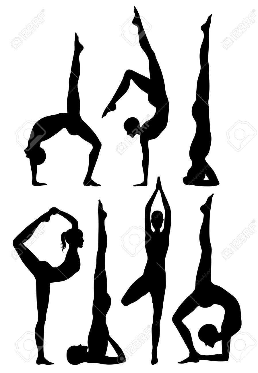 Beginners pilates clipart jpg freeuse download Stock Vector | Yoga in 2019 | Yoga art, Yoga tattoos, Yoga painting jpg freeuse download