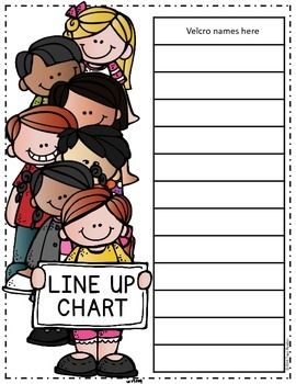 Behavior chart of person throwing something clipart clip free Class Line Up Chart {Freebie} | Teaching Ideas/Teaching Resources ... clip free
