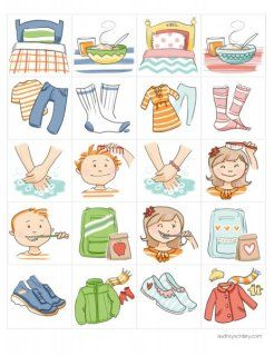 Chores for kids clipart