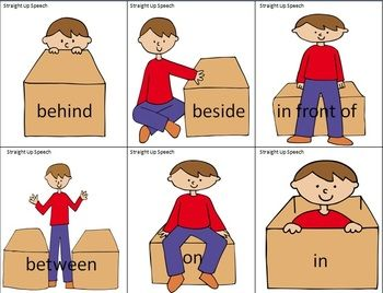 Behind preposition clipart png freeuse A Boy and a Box: Practice with Prepositions | Prepositions ... png freeuse