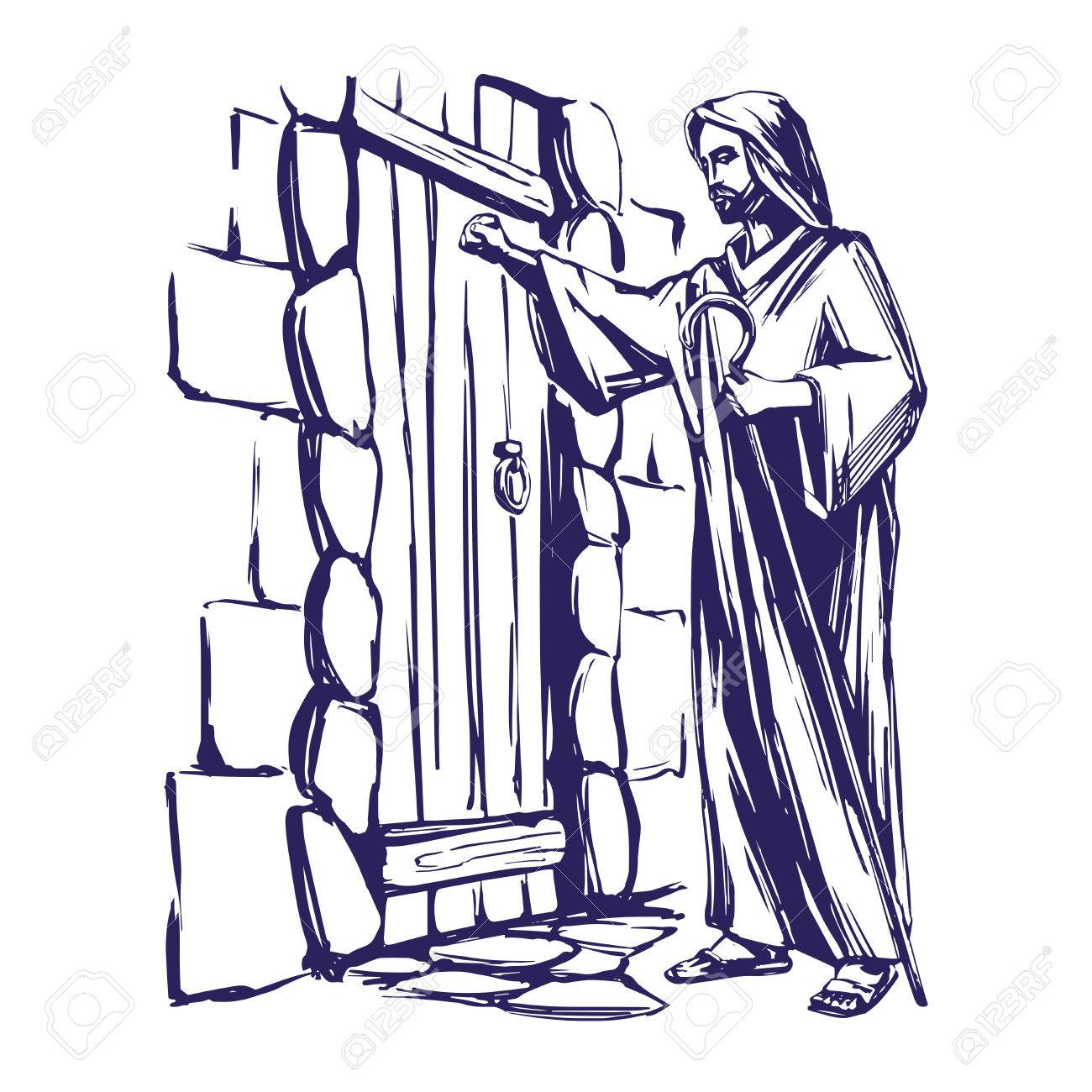 Behold i stand at the door and knock clipart vector freeuse library Jesus Knocks Clipart & Clip Art Images #10678 - clipartimage.com vector freeuse library