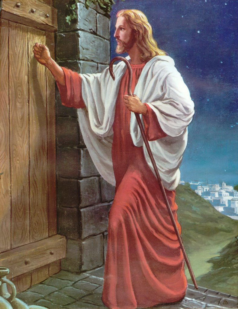 Behold i stand at the door and knock clipart png royalty free download Jesus Knocking At The Door Painting at PaintingValley.com | Explore ... png royalty free download