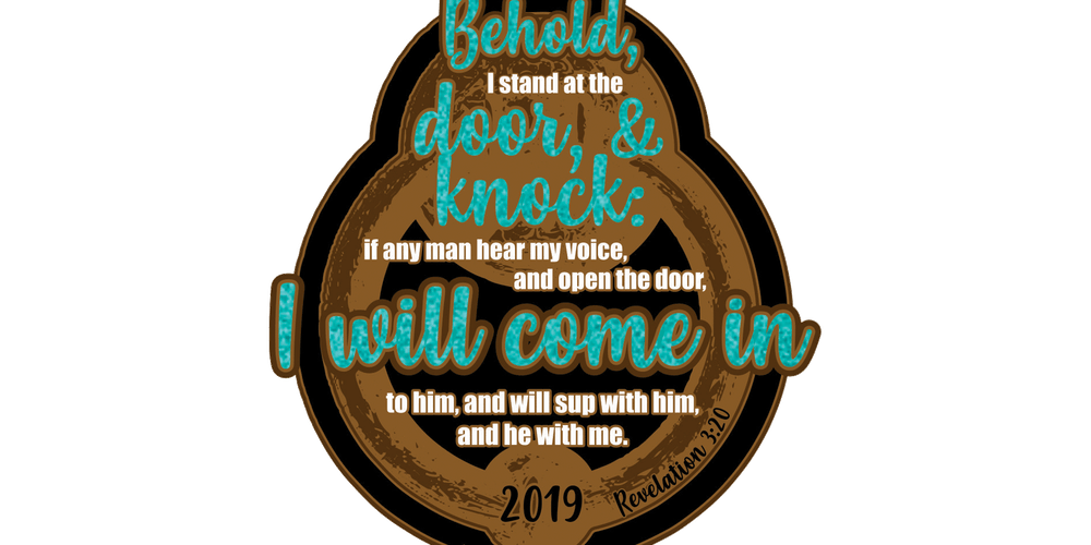 Behold i stand at the door and knock clipart clipart freeuse 2019 I Stand at the Door and Knock 1 Mile, 5K, 10K, 13.1, 26.2 ... clipart freeuse