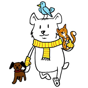 Being kind to animals clipart vector black and white stock Day 3: Be Kind to Animals   Noomii vector black and white stock