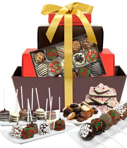 Belgian chocolate clipart clipart transparent DELUXE HOLIDAY Belgian Chocolate Covered Gourmet Gift Basket clipart transparent