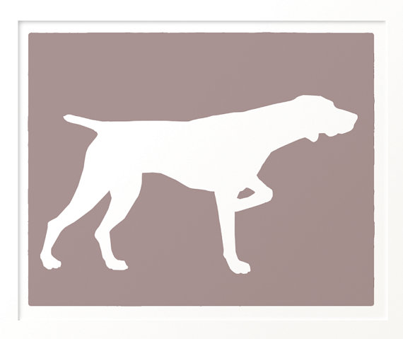 Belgian shorthaired pointer clipart jpg library Items similar to Mod German Shorthaired Pointer Dog - Art Print ... jpg library