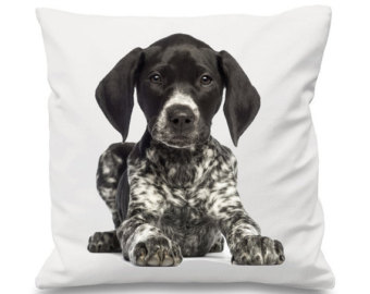 Belgian shorthaired pointer clipart image black and white stock Pointer dog pillow – Etsy UK image black and white stock