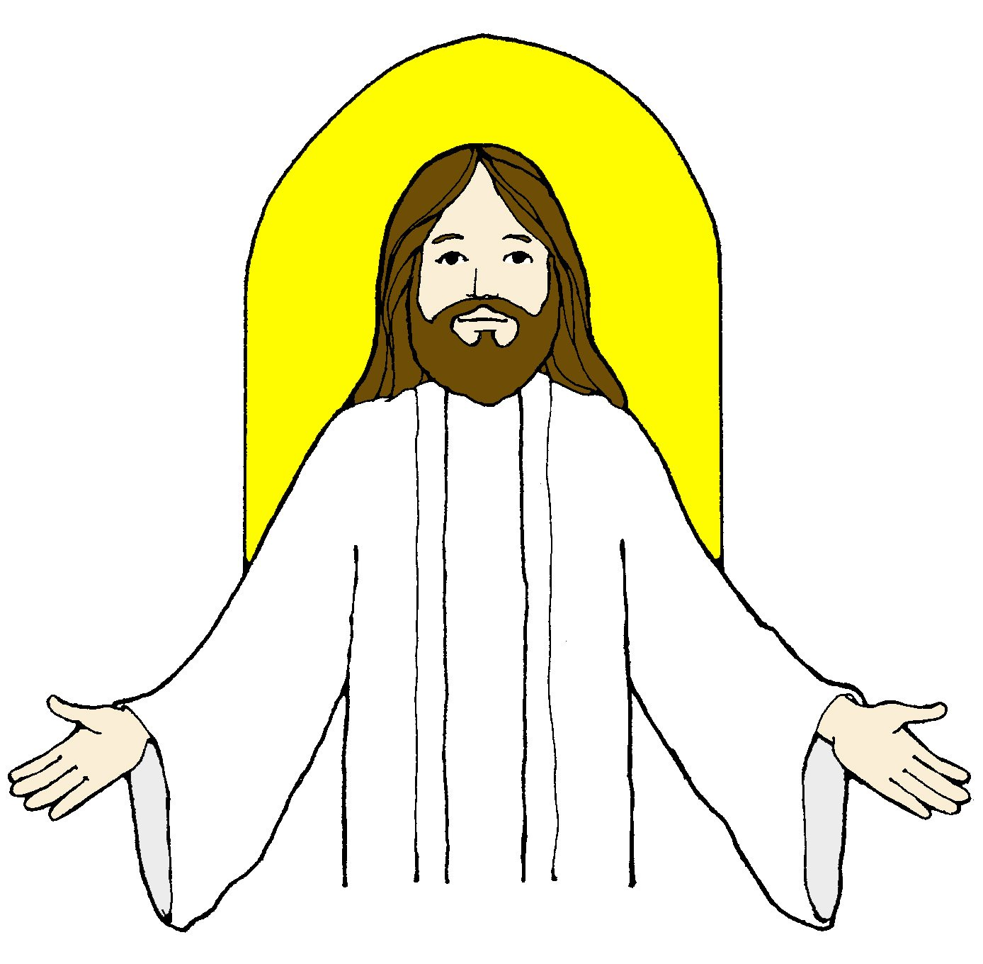 Believe in jesus christ clipart picture royalty free Jesus And The Children Clipart | Free download best Jesus And The ... picture royalty free