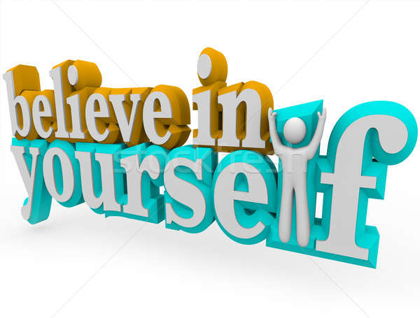 Believe in yourself word clipart graphic freeuse library Encouragement Stock Photos, Stock Images and Vectors | Stockfresh graphic freeuse library