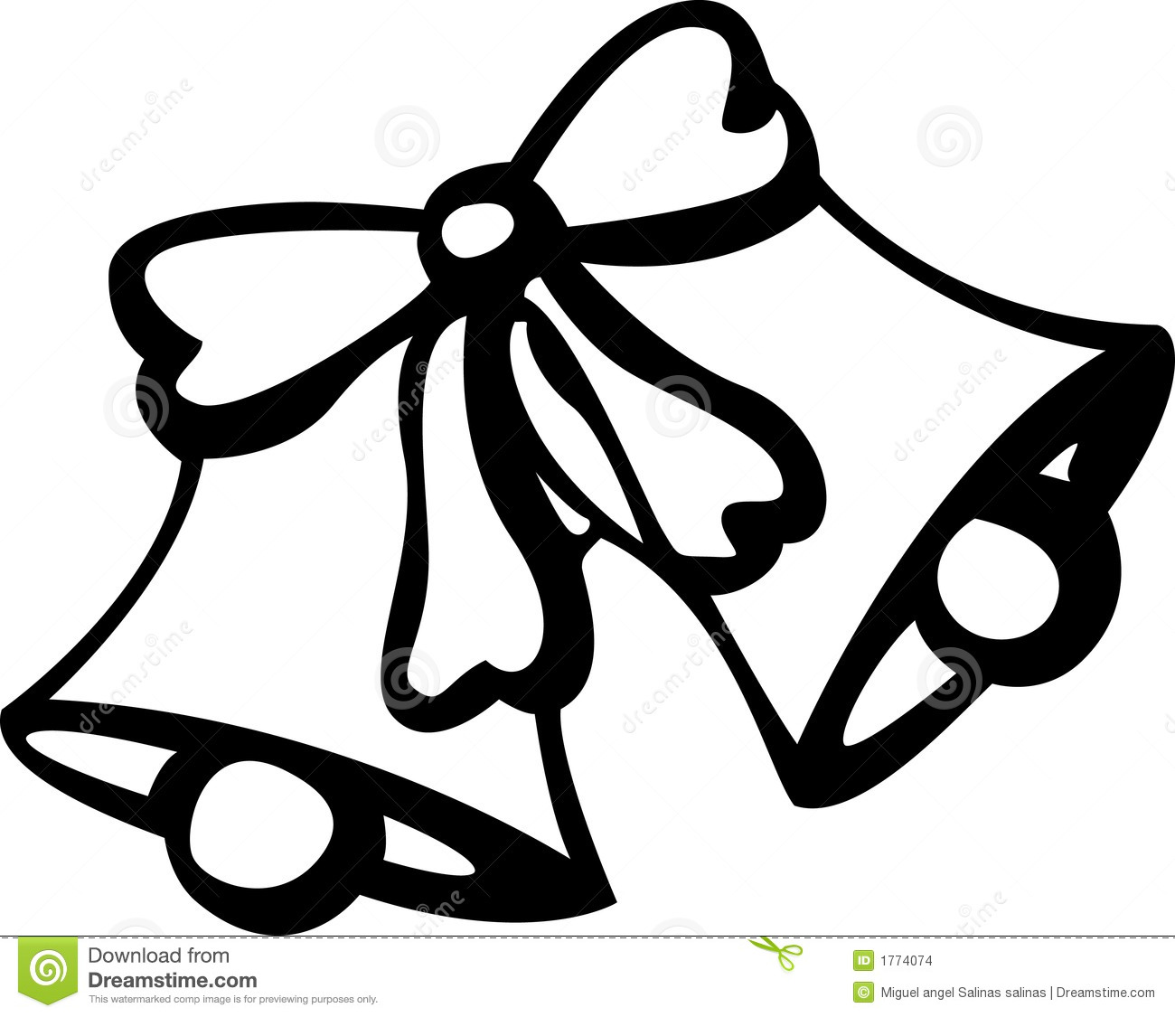 Christmas bells with pine and bow clipart black & white svg black and white Bell Clipart Black And White | Free download best Bell Clipart Black ... svg black and white