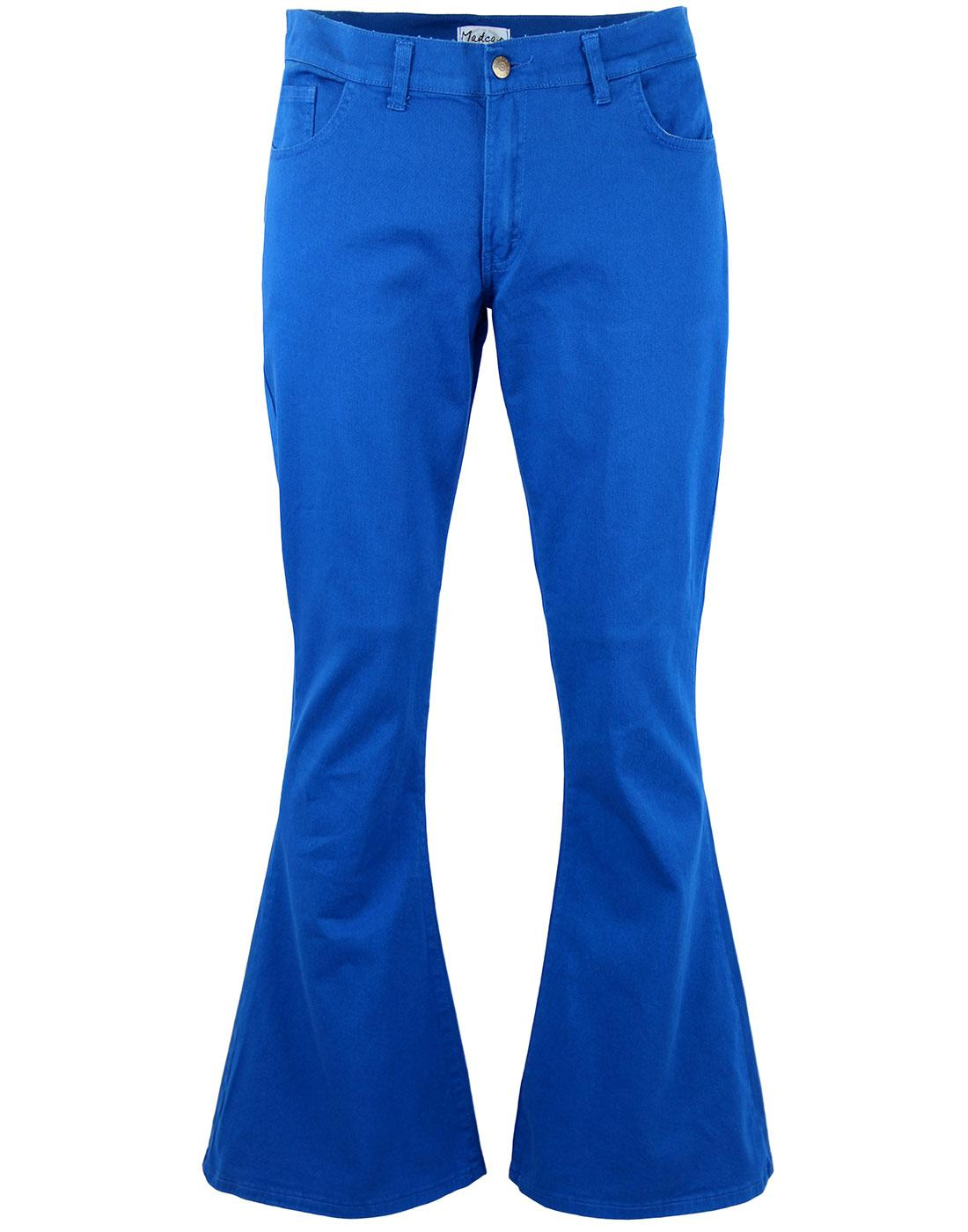 Bell bottoms 70s clipart black and white graphic 13th Floor Retro Seventies Stretch Twill Bellbottom Flares in Royal Blue graphic