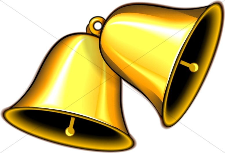 Bell clipart clip art royalty free stock Pair of Ringing Gold Bells | Church Bell Clipart clip art royalty free stock