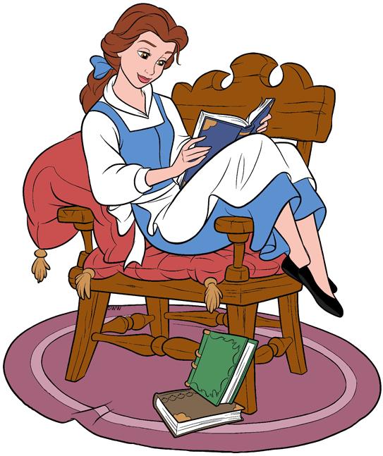 Bell reading clipart picture Belle Clip Art | Disney Clip Art Galore picture
