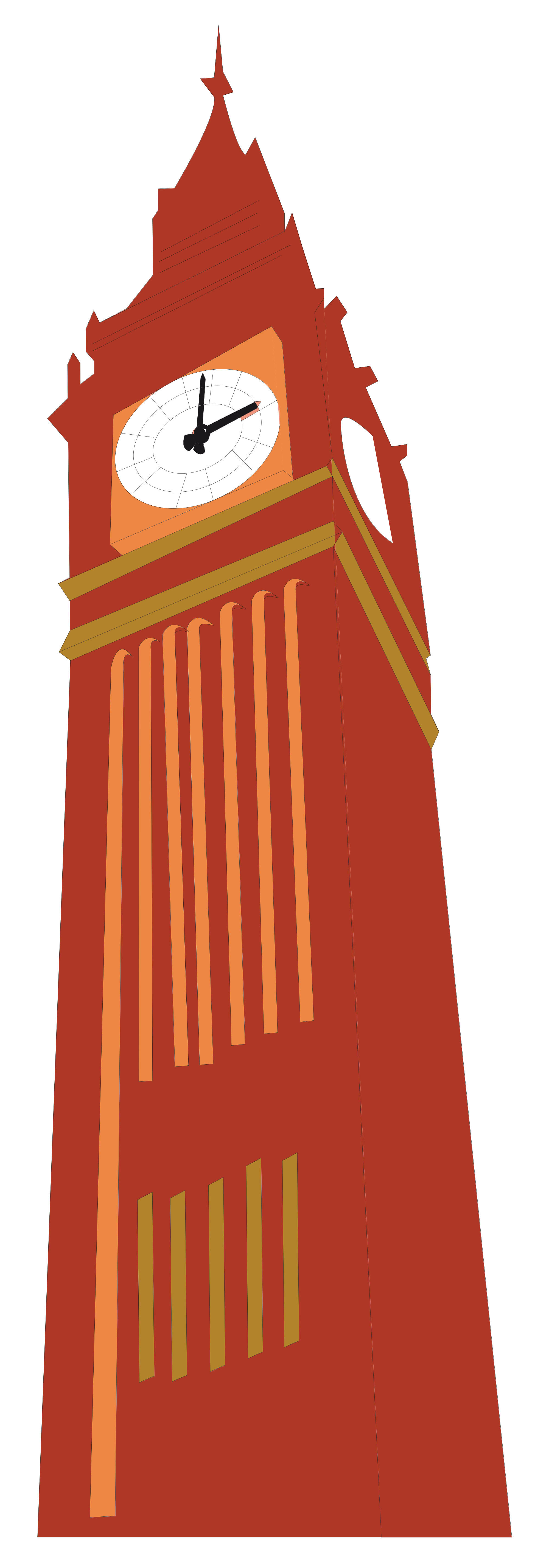 Bell tower clipart red