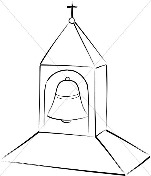 Bell tower clipart red clipart transparent library Church Bell Tower | Church Bell Clipart clipart transparent library