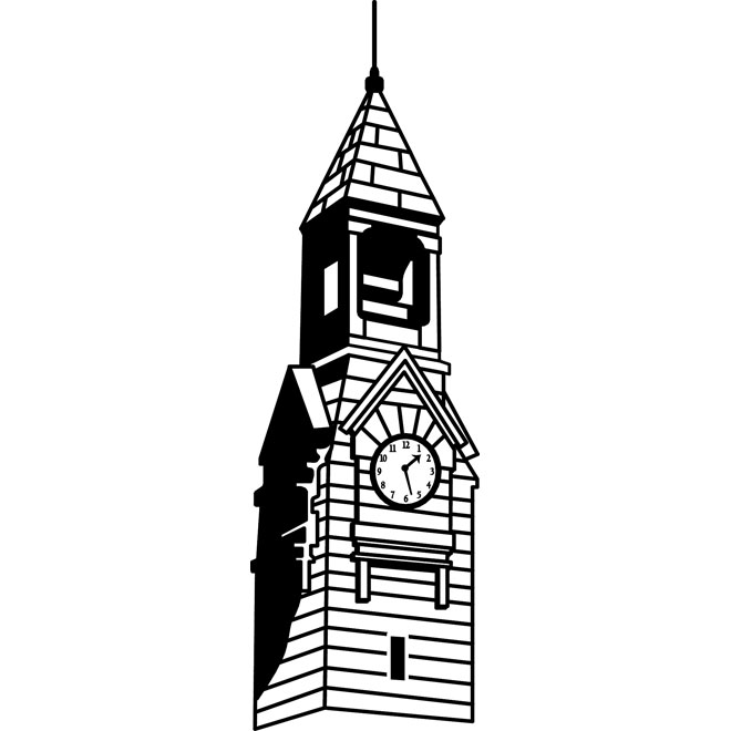 Watch tower vector clipart png black and white library CLOCK TOWER VECTOR IMAGE - Free vector image in AI and EPS format. png black and white library