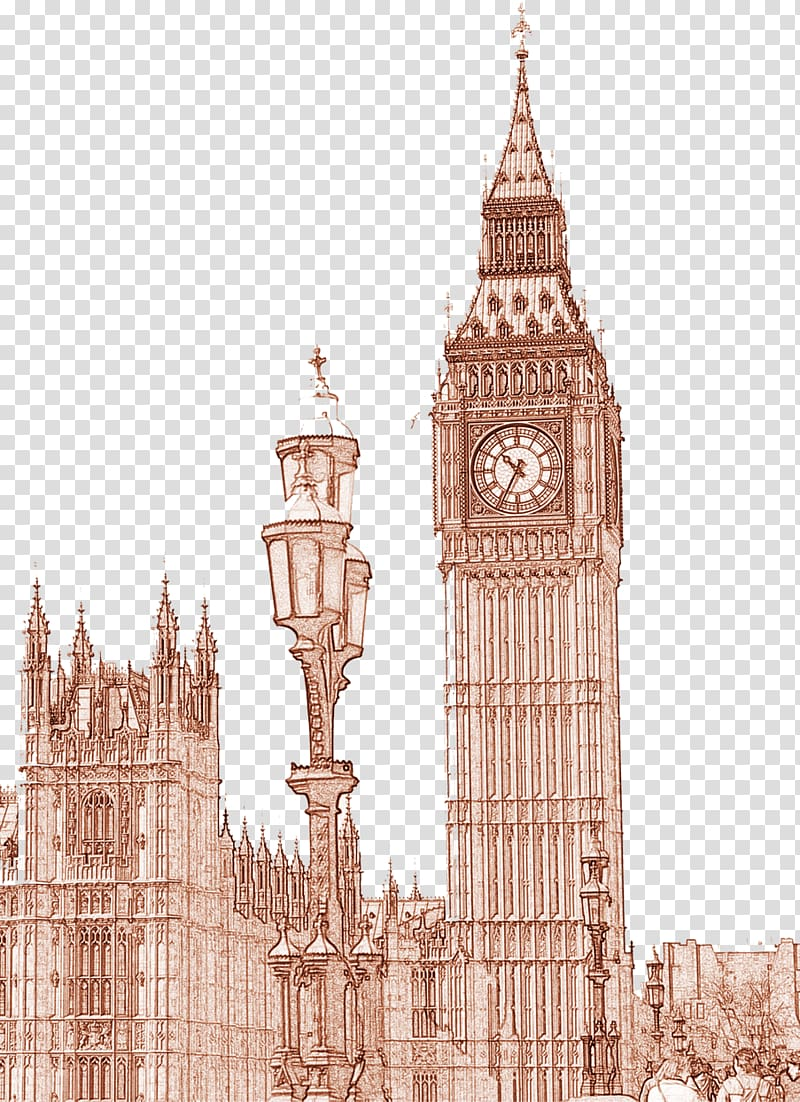 Bell tower clipart red banner black and white library Big Ben Bell Historic site Clock tower, UK Big Ben transparent ... banner black and white library