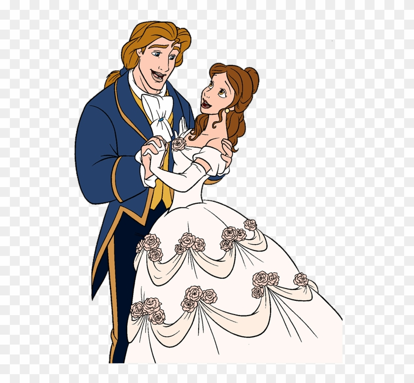 Belle and prince adam clipart clipart free Wedding Dress Clipart Belle - Prince Adam And Belle Wedding - Free ... clipart free