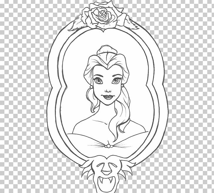 Belle black and white clipart banner freeuse library Belle Line Art Drawing PNG, Clipart, Art, Artwork, Beauty And The ... banner freeuse library