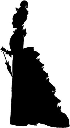Belle clipart silhouette image black and white library Southern belle silhouette clipart - ClipartFest image black and white library