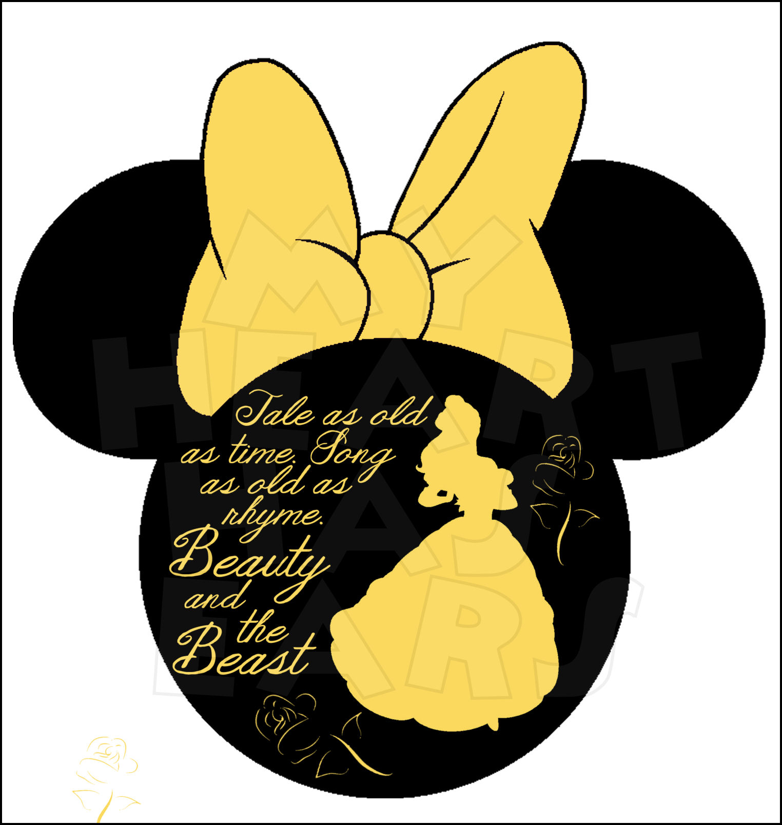 Belle clipart silhouette graphic free download Beauty and the beast bell black silhouette clipart - ClipartFest graphic free download