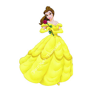 Belle dress clipart. Beauty the beast polyvore