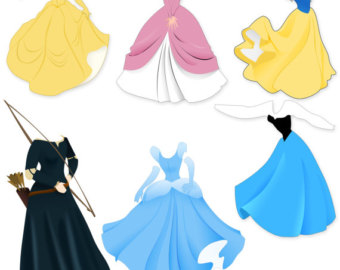 Belle dress clipart clip transparent stock Disney princess dresses clipart - ClipartFest clip transparent stock