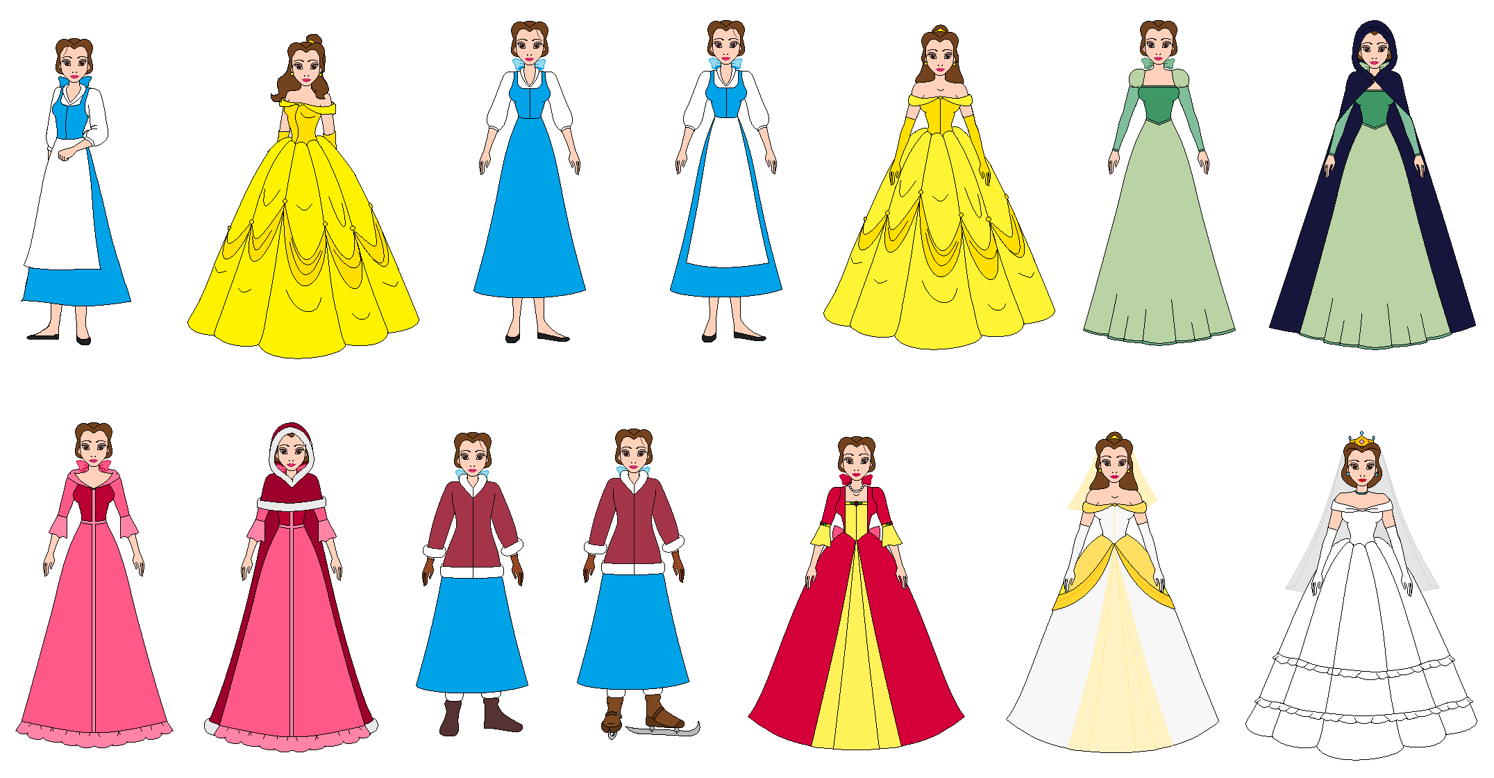 All by ppsantos on. Belle dress clipart