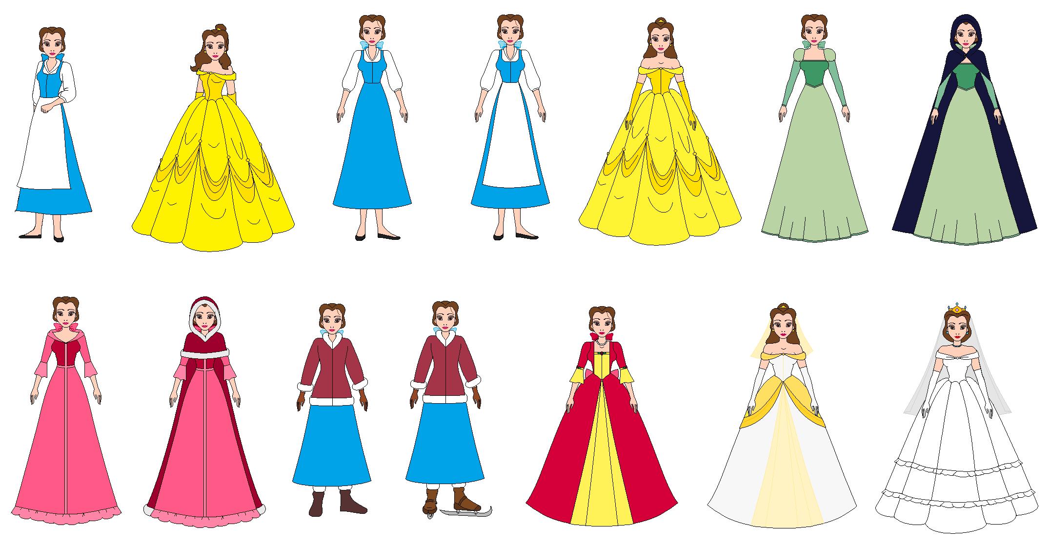 Belle dress clipart vector transparent stock Belle all Dress by PPsantos1989 on DeviantArt vector transparent stock