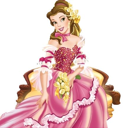 Belle putting on dress clipart picture library stock Belle Pink Dress   Princess Belle Pink Dress   Pink Dress ... picture library stock