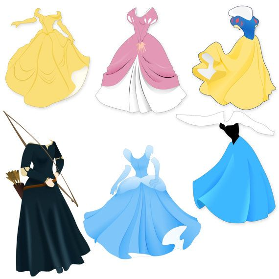 Belle putting on dress clipart jpg black and white library Disney princess dress clipart - ClipartFox jpg black and white library