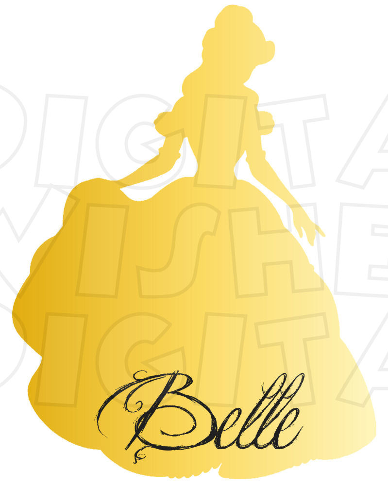 Belle silhouette clipart graphic free library Beauty & the Beast :: My Heart Has Ears graphic free library