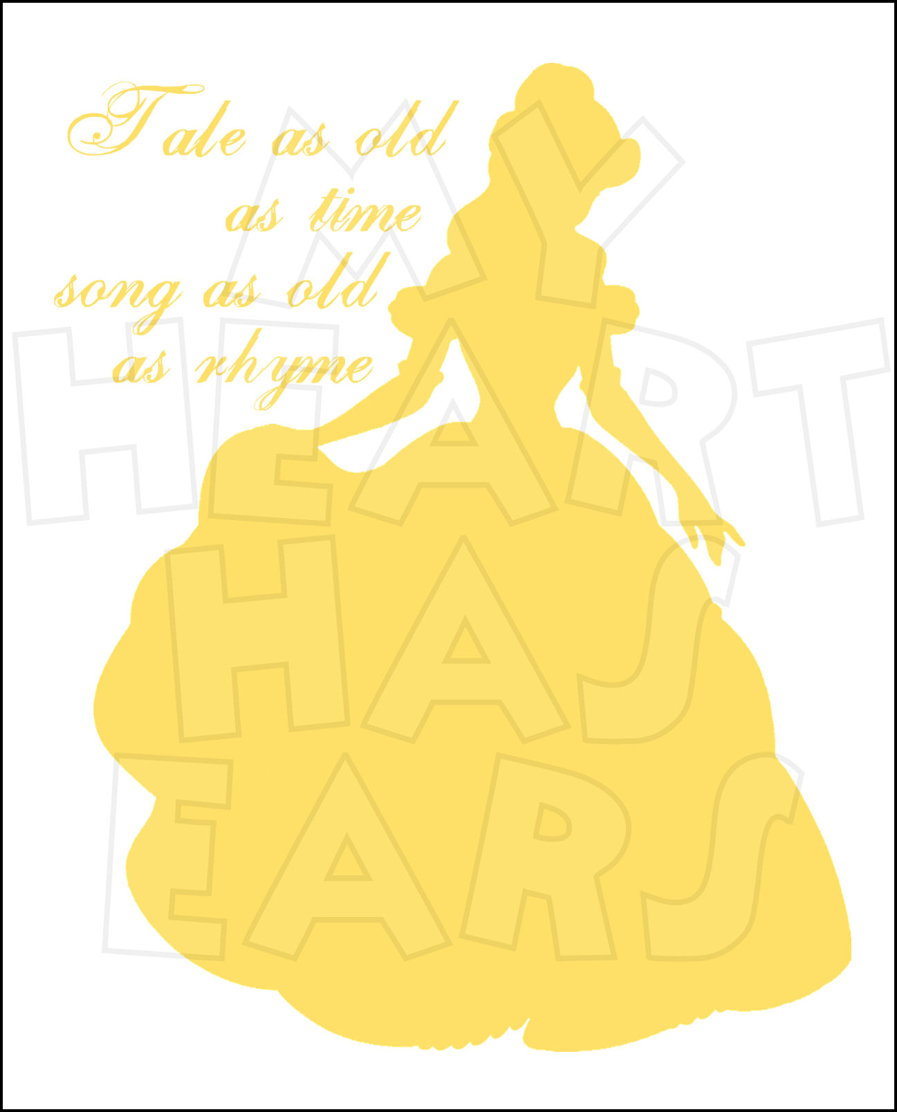 Belle silhouette clipart image black and white stock Beauty and the beast silhouette clip art - ClipartFest image black and white stock