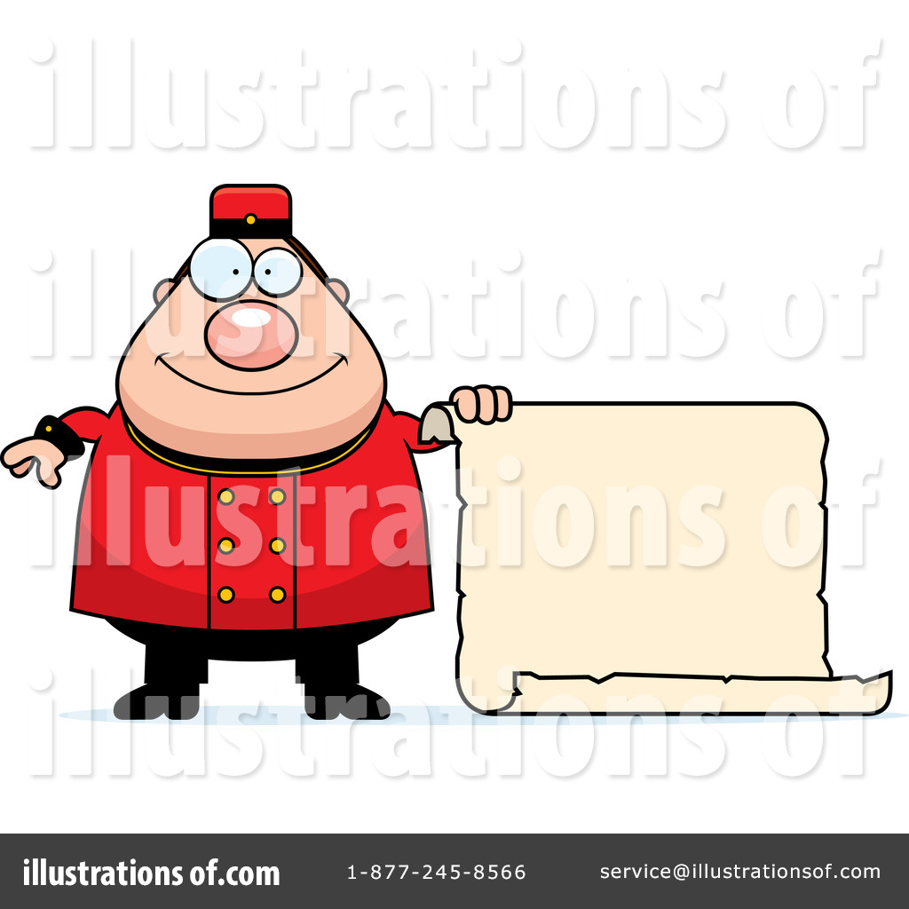 Bellhop clipart image royalty free download Bellhop Clipart #1118509 - Illustration by Cory Thoman image royalty free download