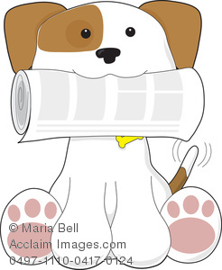 Bells on dogs tail clipart image download Puppy Love   Dog or Puppy Retrieving the Newspaper for His Master ... image download