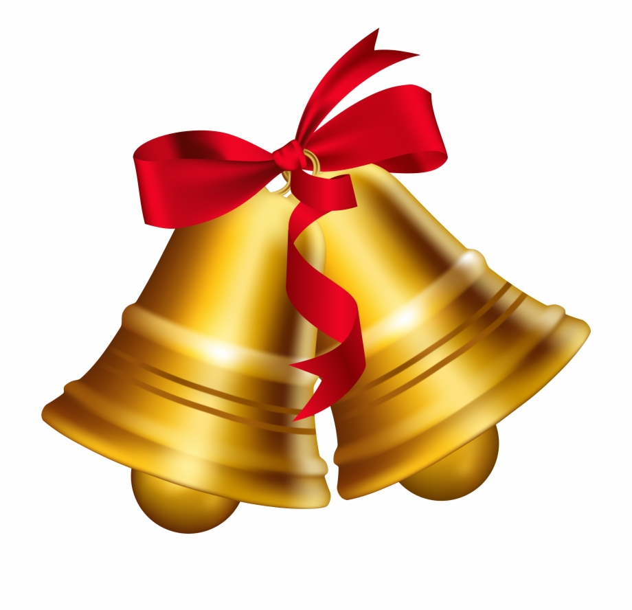 Bells wilth ribbons clipart clipart freeuse Christmas Bow Png Transparent Image - Clipart Bells Free PNG Images ... clipart freeuse