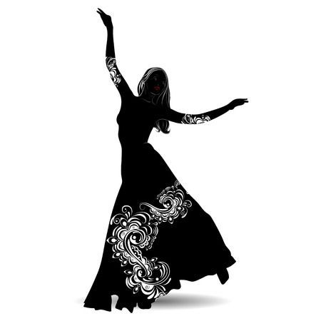 Belly dancing pictures clipart jpg black and white stock Clipart belly dance 4 » Clipart Portal jpg black and white stock