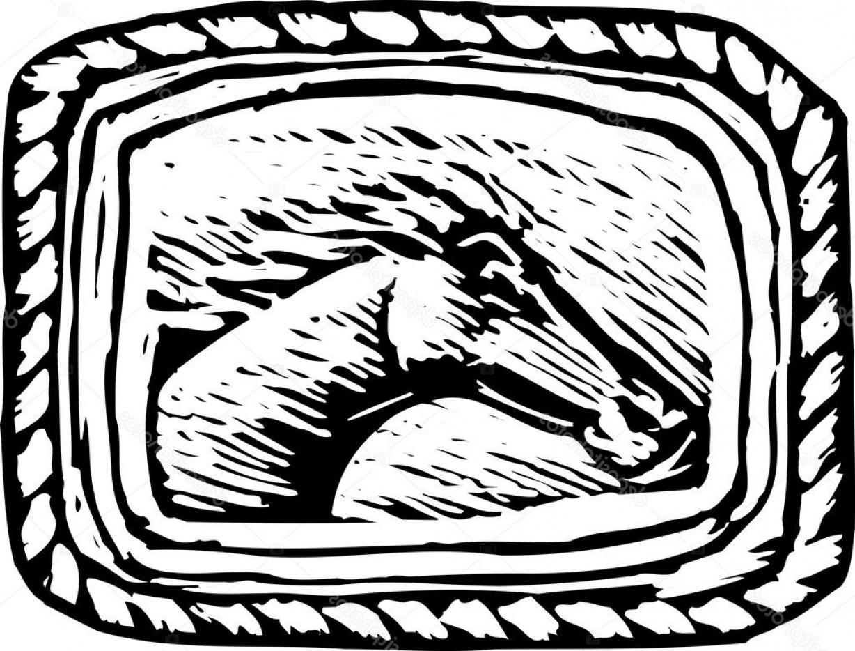 Belt buckle clipart clip art freeuse download Stock Illustration Western Belt Buckle With Horse | SOIDERGI clip art freeuse download