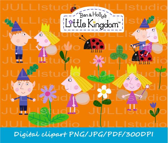 Ben and holly clipart graphic transparent stock 26-YS / Digital Ben & Holly clipart / little by JULLYstudio | Elf ... graphic transparent stock