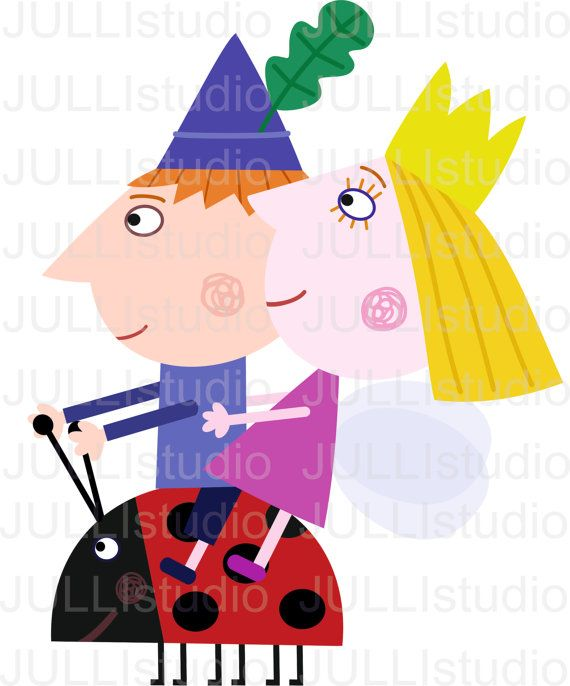 Ben and holly clipart png black and white Digital Ben & Holly clipart / little kingdom by JULLYstudio | Elf ... png black and white