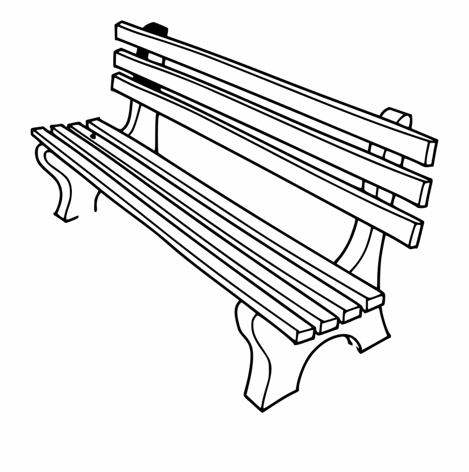 Bench clipart black and white clipart freeuse Bench Clipart Outline - Bench Clipart Black And White Free PNG ... clipart freeuse