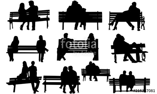Bench logo clipart png royalty free download Couple on a Bench Silhouette |Playground Old Couple Vector | Park ... png royalty free download