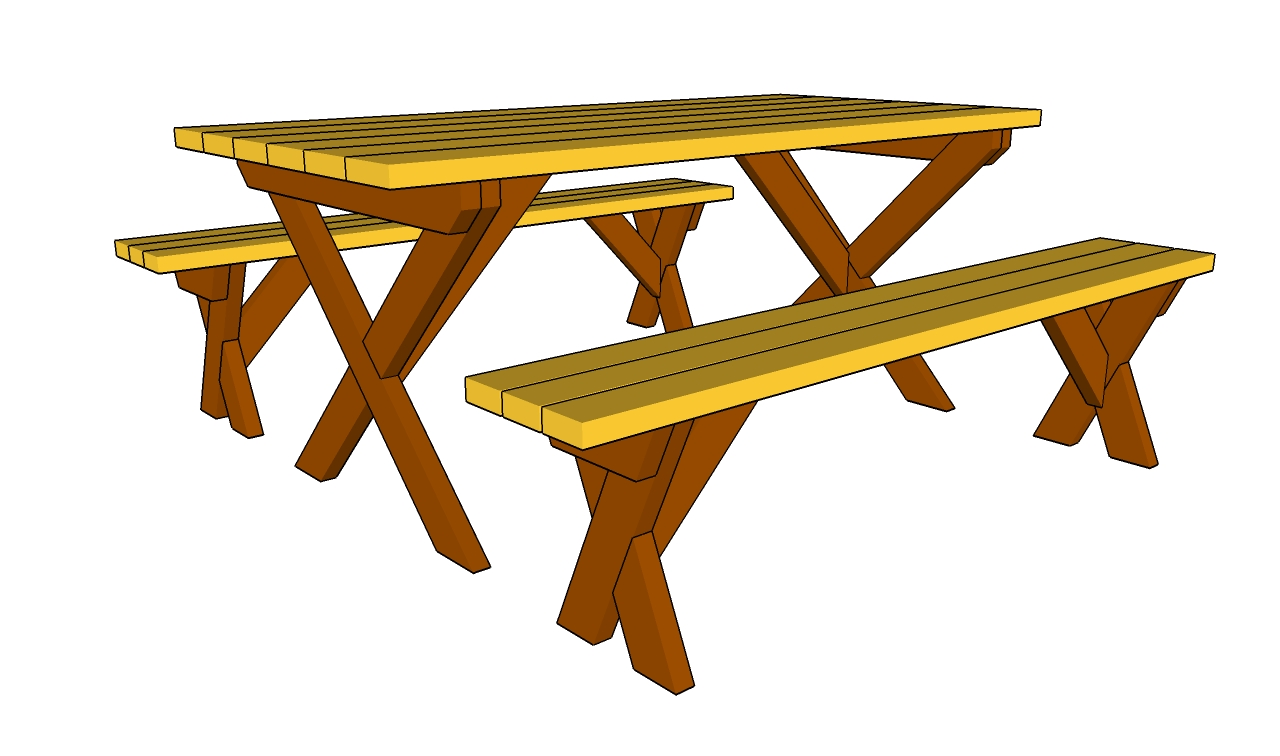 Bench plan clipart picture black and white Free Picnic Table Images, Download Free Clip Art, Free Clip Art on ... picture black and white