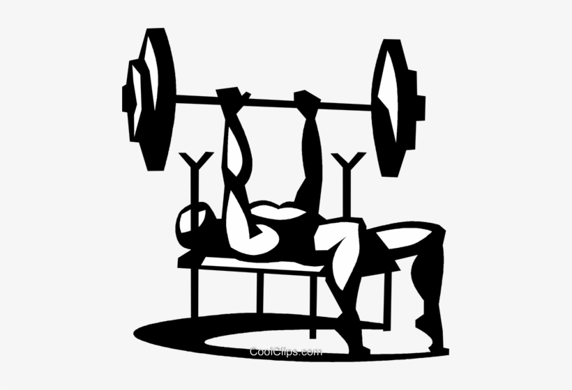 Bench press exercise clipart