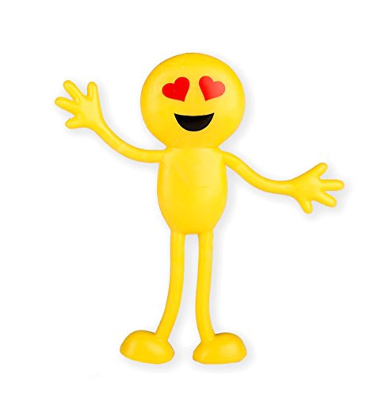Bendable smiley face fidget clipart image transparent download Emoji Smiley Face Bendable Figures - Bulk pack of 12 4.5\