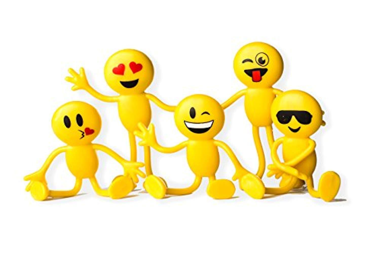 Bendable smiley face fidget clipart picture transparent Emoji Smiley Face Bendable Figures - Bulk pack of 12 4.5\