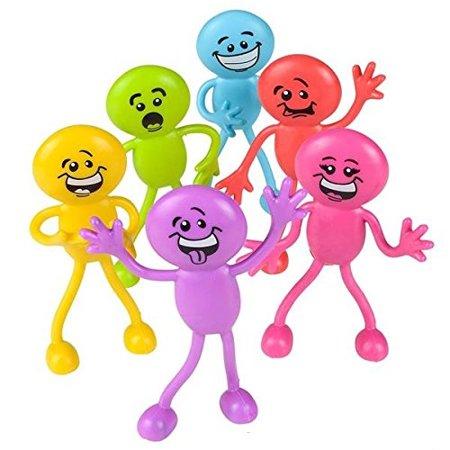 Bendable smiley face fidget clipart clip art royalty free Goofy Smiley Face - Silly Face Bendables - 1 Dozen 4.5\