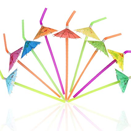 Bendable straw clipart picture library download Amazon.com: Tomnk 120PCS Umbrella Disposable Bendy Drinking Straws ... picture library download