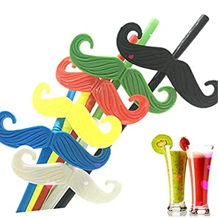 Bendable straw clipart graphic royalty free Amazon.com: Reusable Colored Mustache Straw For Funny Gathering ... graphic royalty free
