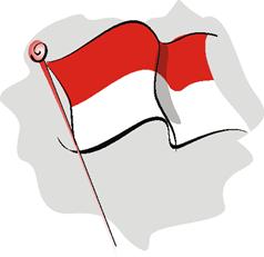 Bendera clipart vector library stock Clipart bendera indonesia 1 » Clipart Station vector library stock